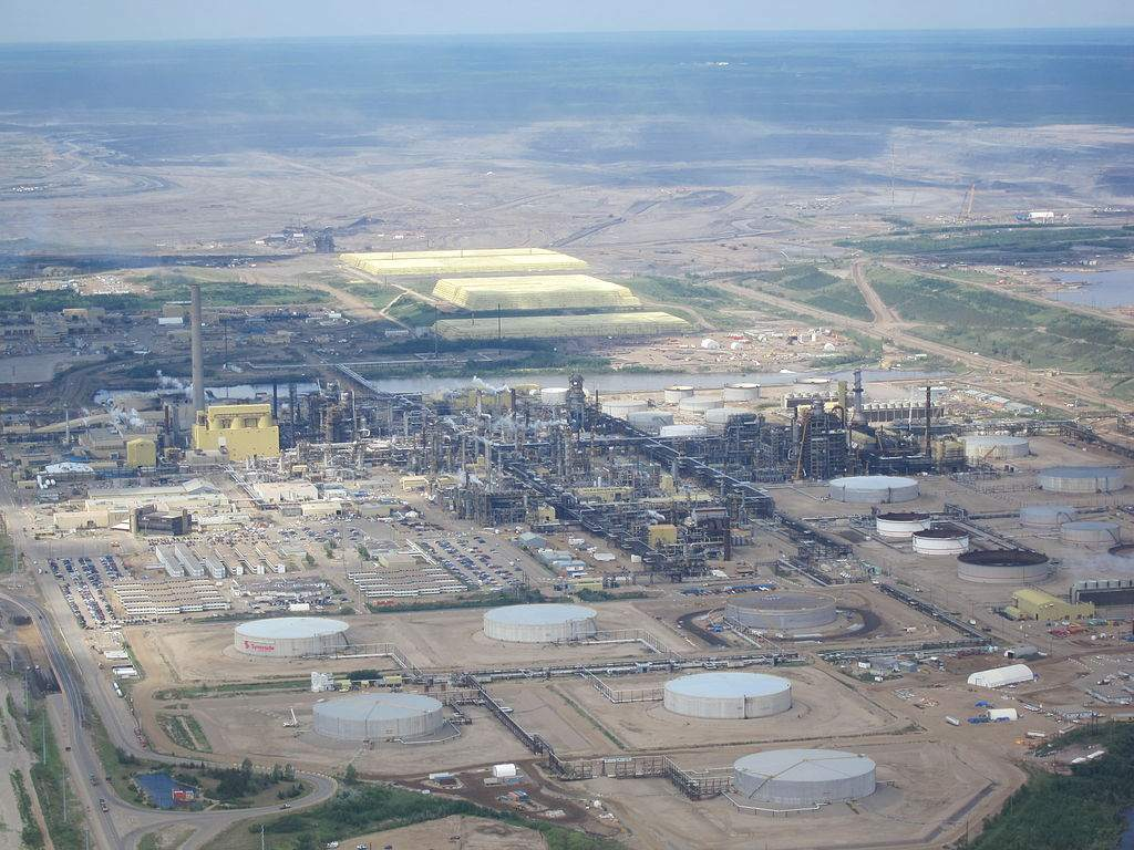 Öl-Sand Aufbereitungsanlage Mildred Lake in Alberta Kanada