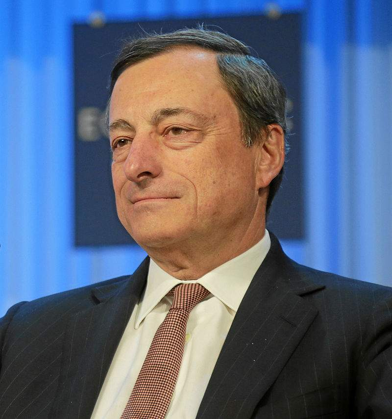 EZB Chef Mario Draghi beim World Economic Forum