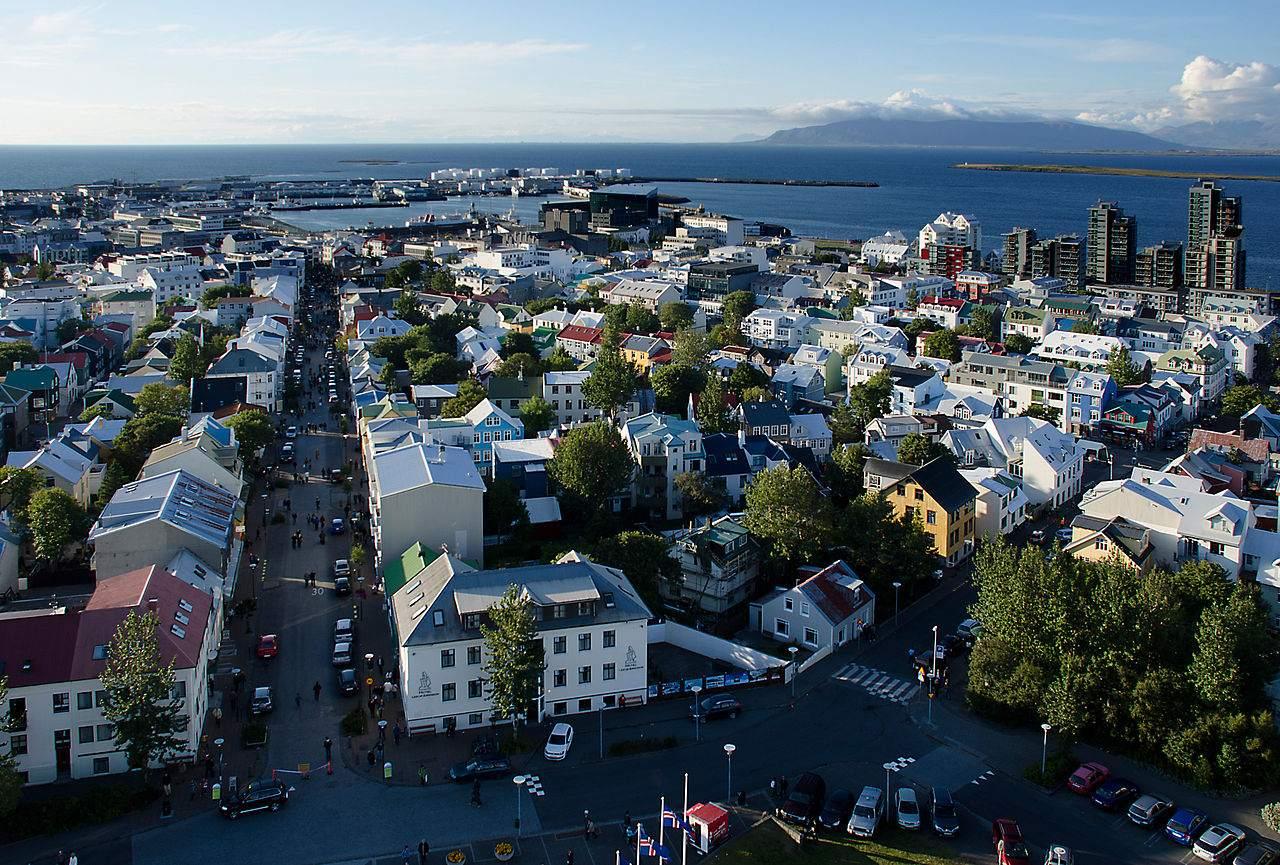 Island Hauptstadt Reykjavik