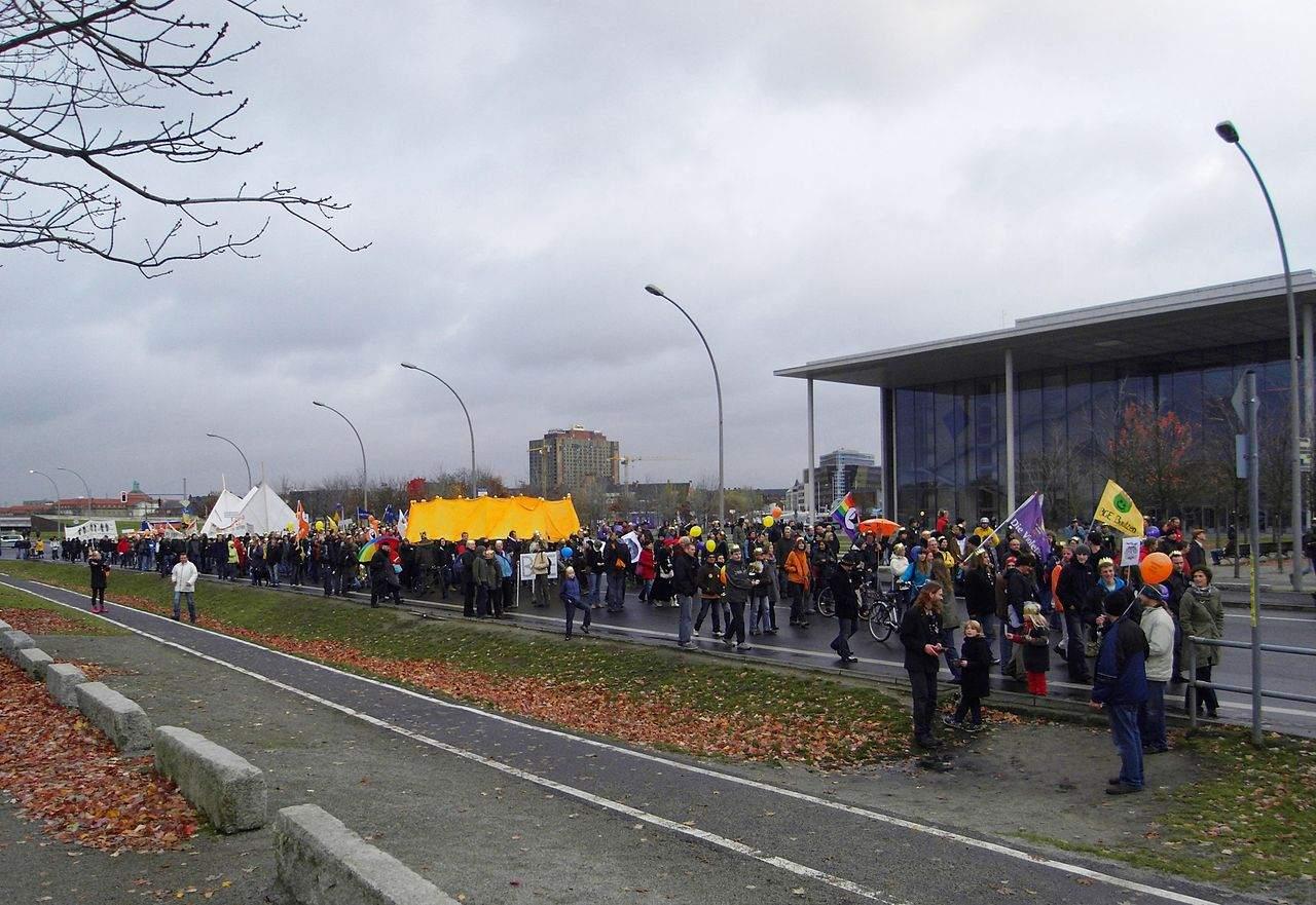 Demo in Berlin 2010 für ein bedingungsloses Grundeinkommen