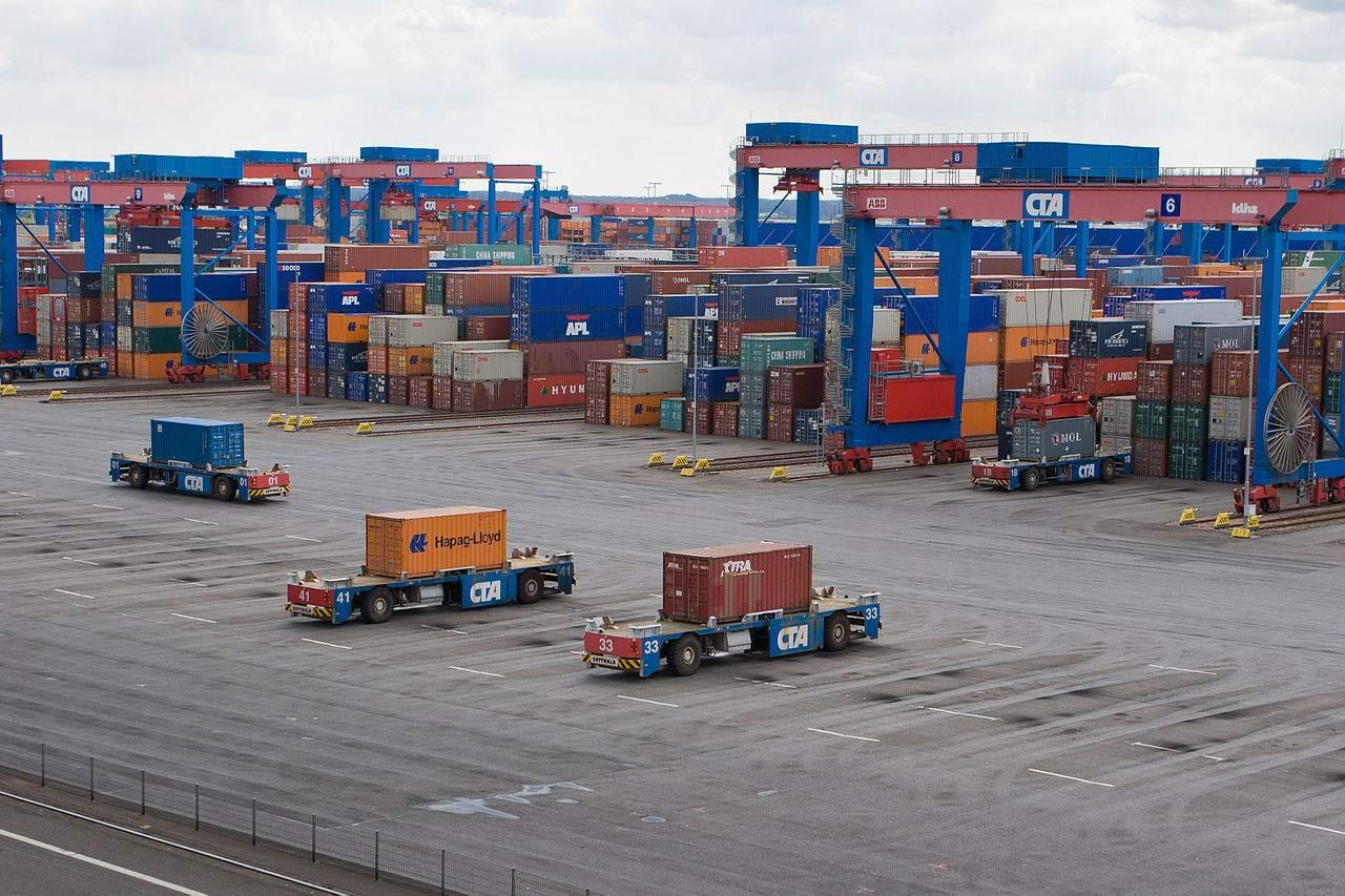 Container Terminal Altenwerder in Hamburg