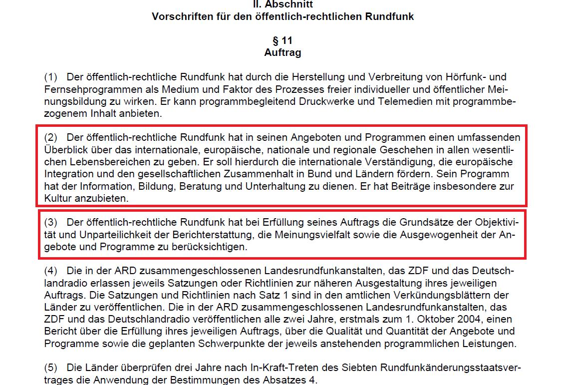 GEZ Rundfunkstaatsvertrag