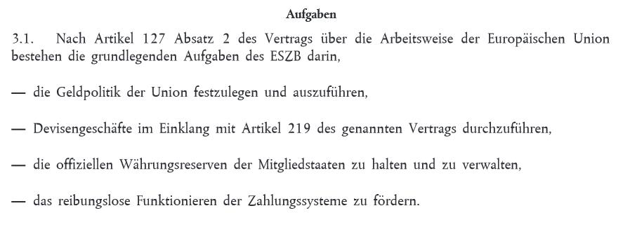 EZB Bargeldverbot Bargeld Satzung