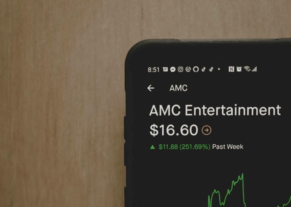 AMC Aktie auf Handy App