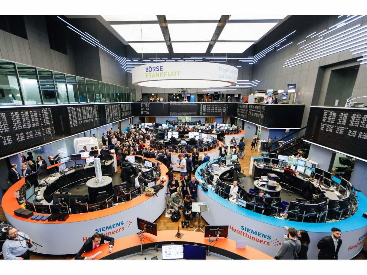 Siemens Healthineers am Freitag beim Börsengang in Frankfurt