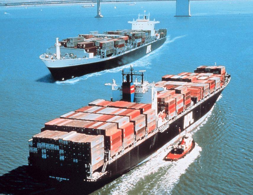 Heuschrecken Containerschiffe
