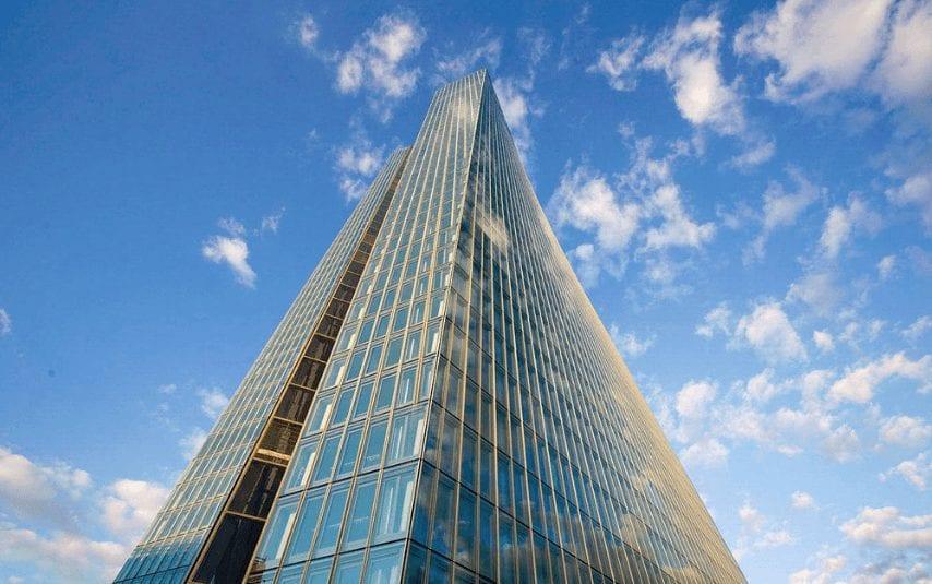 Blackrock kontrolliert für die EZB Banken - hier die EZB-Zentrale in Frankfurt