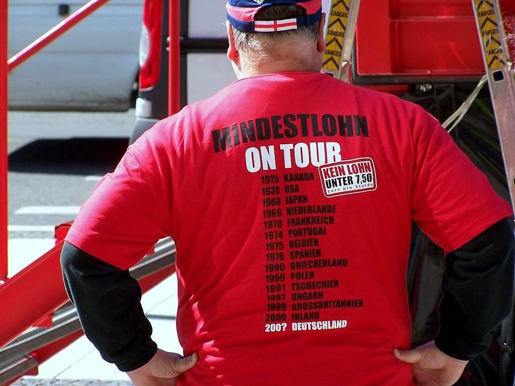 Mindestlohn-Kampagne aus dem Jahr 2007