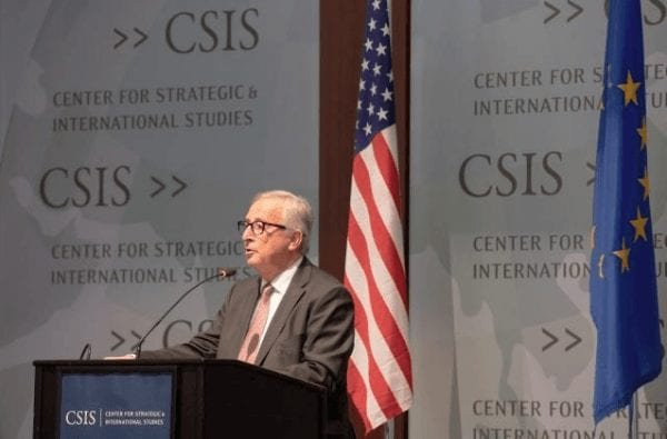 Jean-Claude Juncker gestern in Washington DC