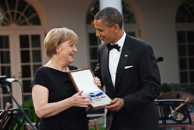 Neue Jobs - Merkel und Obama