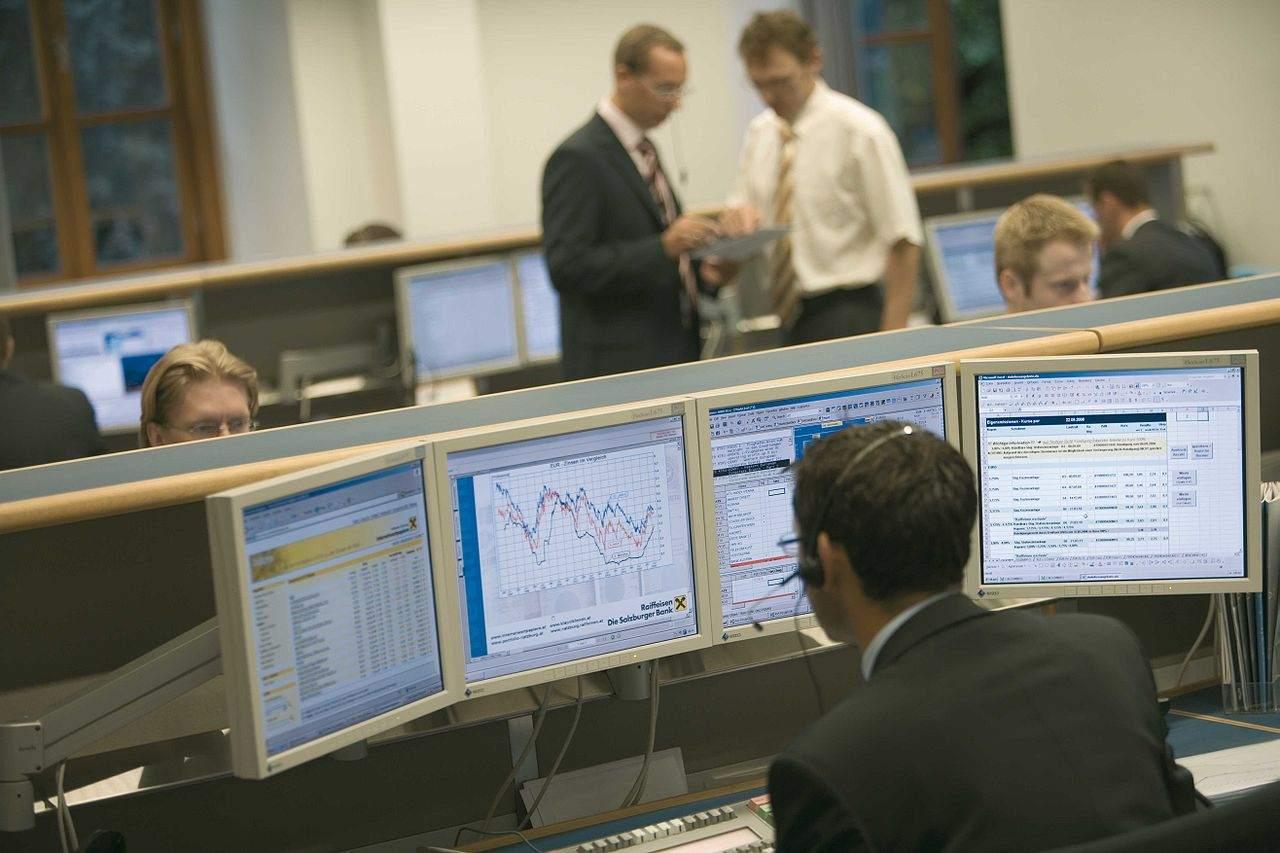 Finanzkrise - Handelsraum einer Bank