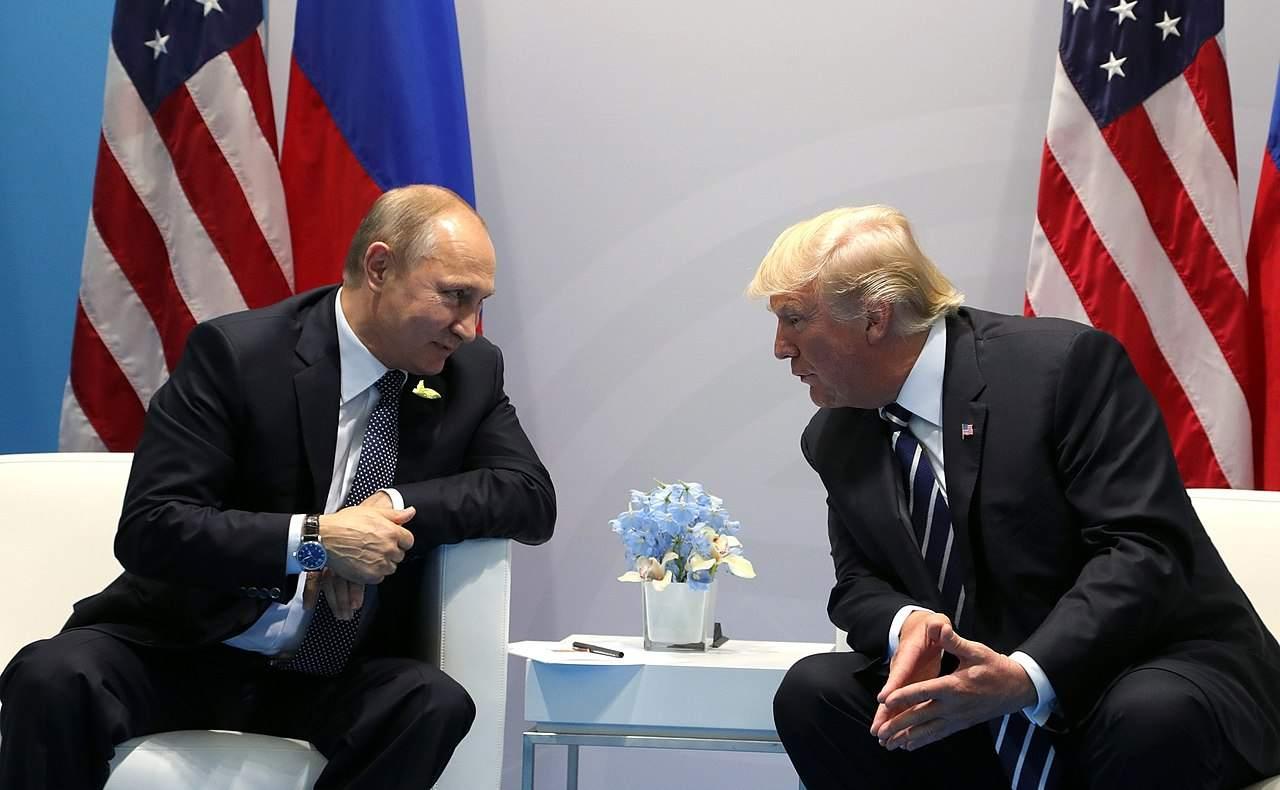 Putin und Trump beim G20-Treffen in Hamburg