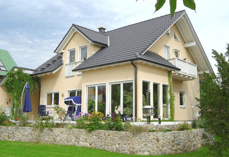 Bau Hausbau Fertighaus