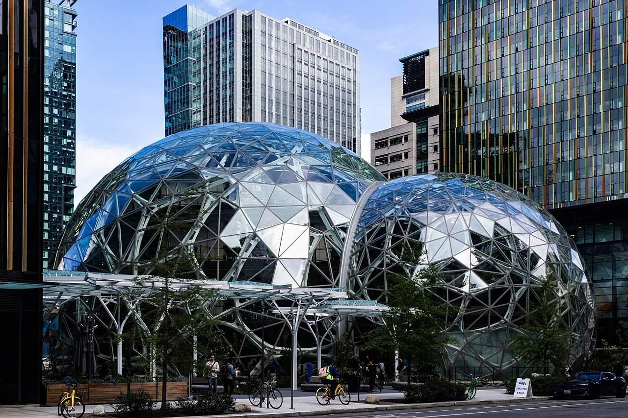 Amazon-Quartalszahlen heute Abend - die Zentrale in Seattle