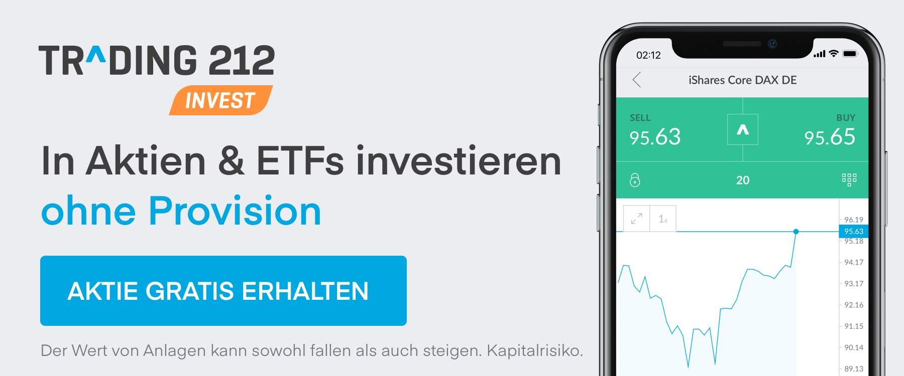 Trading 212 Aktie gratis erhalten