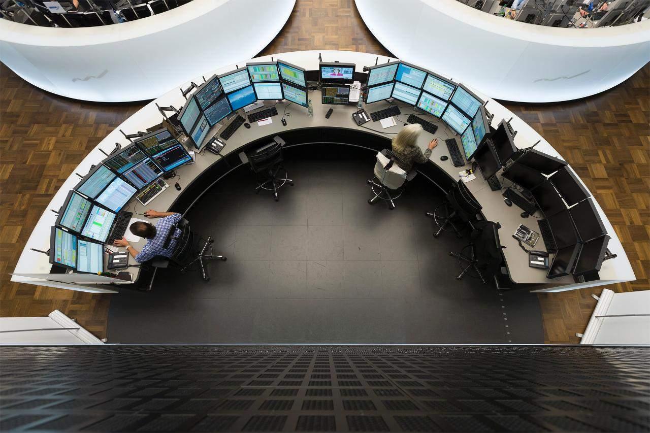 Handelssaal von oben