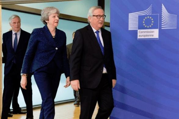 May und Juncker heute in Brüssel