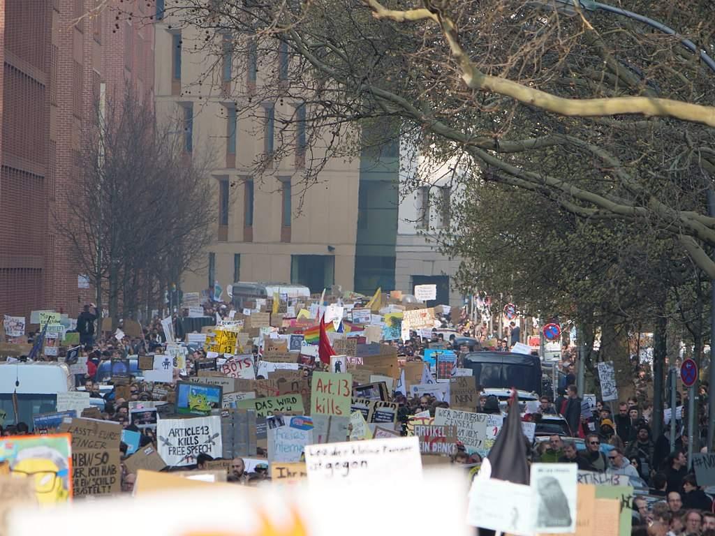 Demos in Berlin gegen Artikel 13 vorgestern