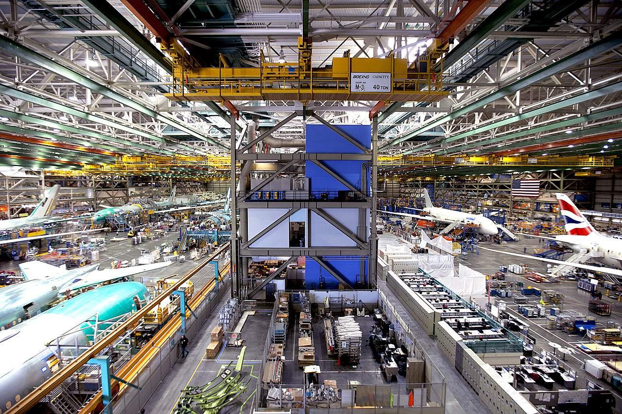 Das Boeing Hauptwerk nahe Seattle