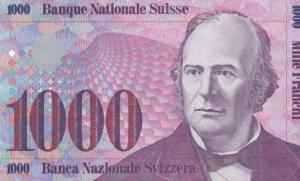 Ein alter 1000 Schweizer Franken-Schein