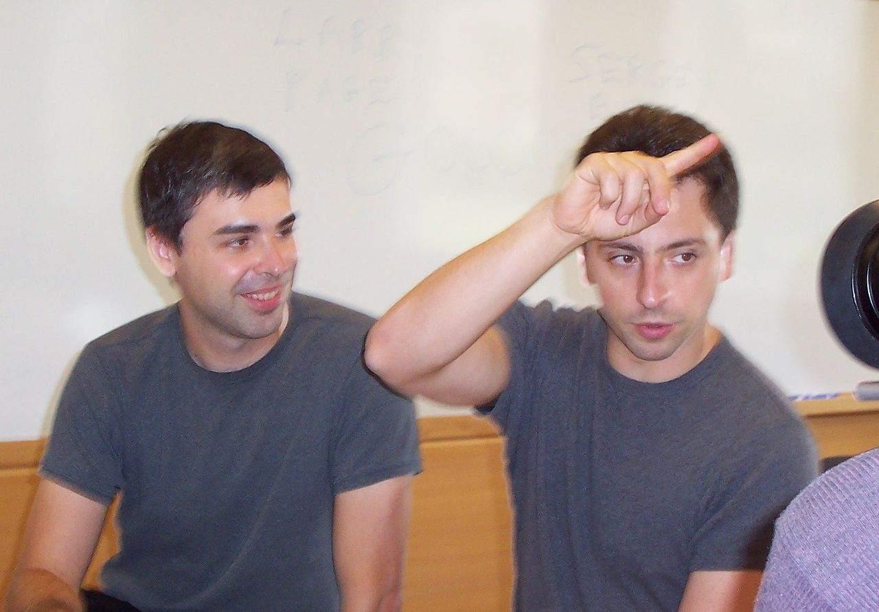 Larry Page and Sergey Brin - heute Alphabet-Quartalszahlen