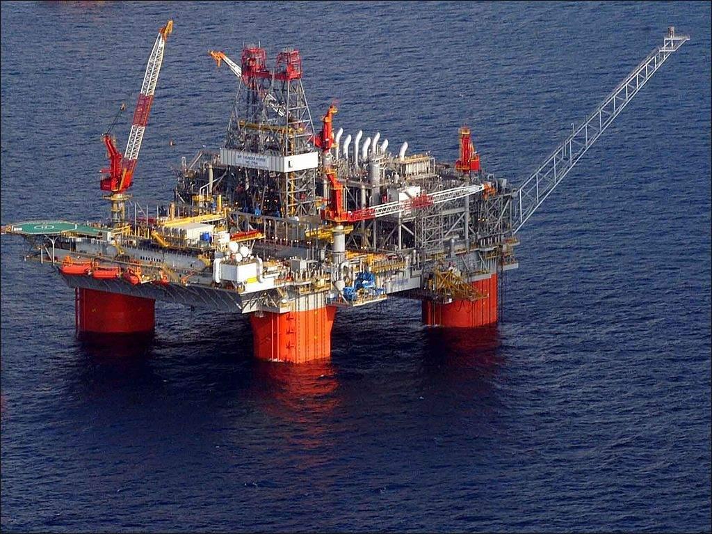 Öl-Bohrinsel - fallender Ölpreis