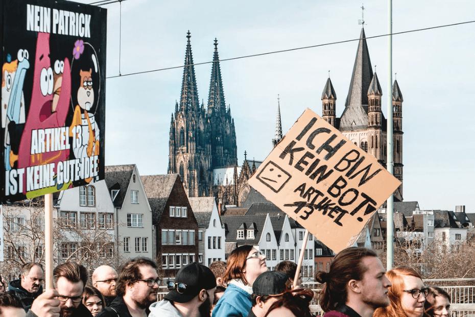 Demo gegen Artikel 13 und Uploadfilter