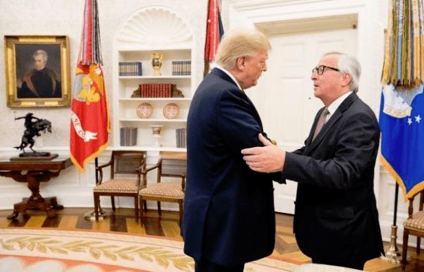 Juncker Trump Flüssiggas