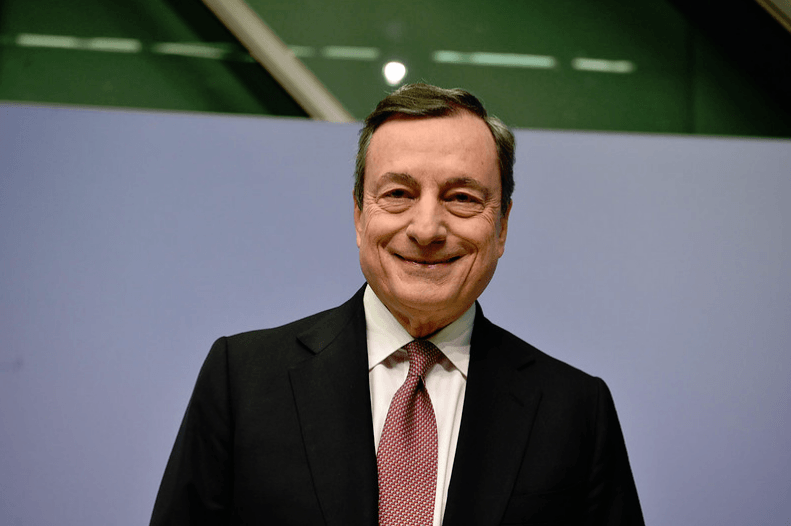 Thema Geldentwertung - Notenbanken EZB Draghi