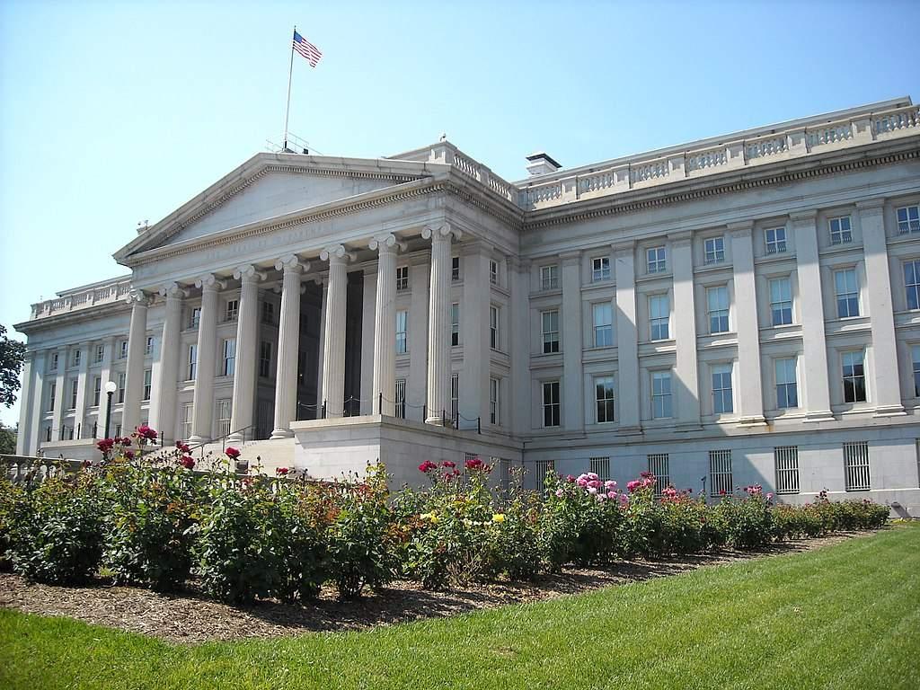 Das US-Finanzministerium - US-Haushaltsdefizit steigt weiter an