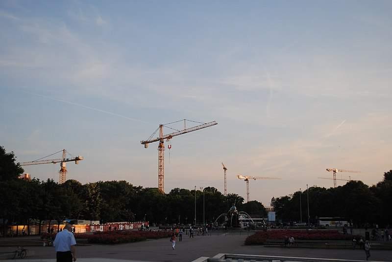 Bauboom - Baukräne in Berlin