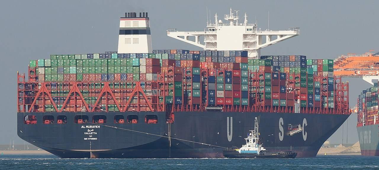 Außenhandel EU - Containerschiff in Rotterdam