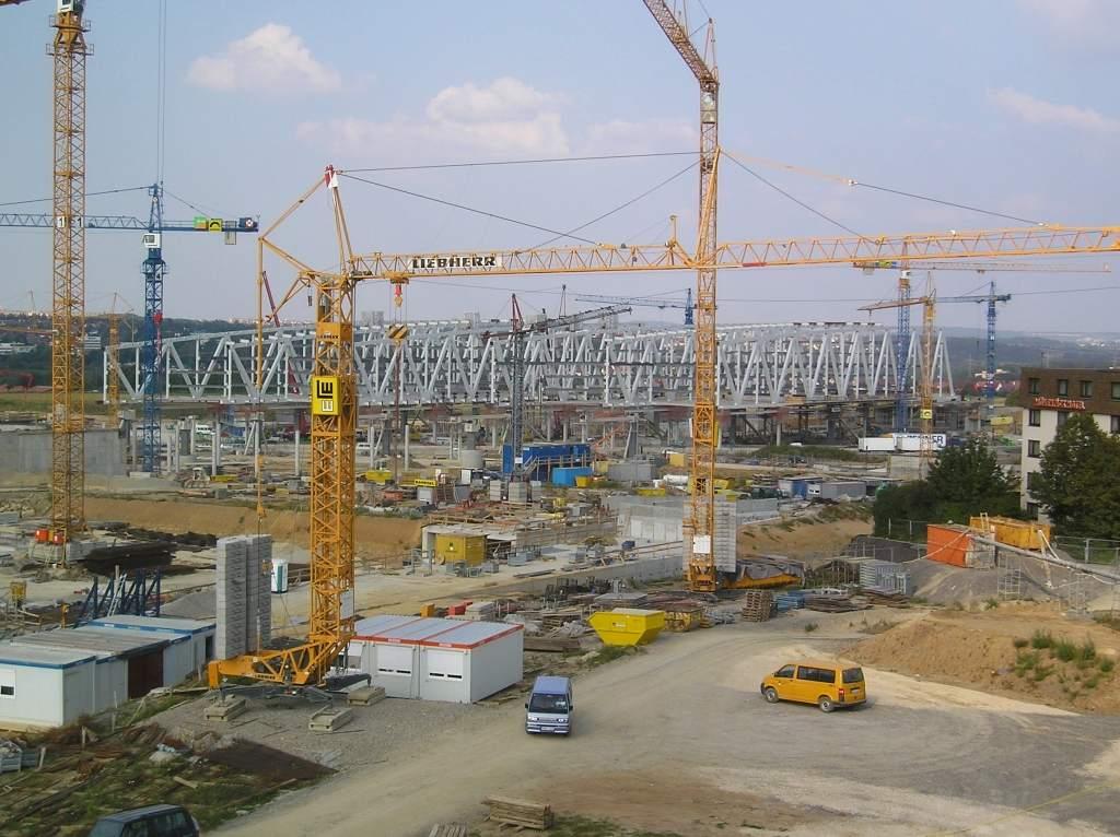 Auftragseingänge Baubranche - Baukräne