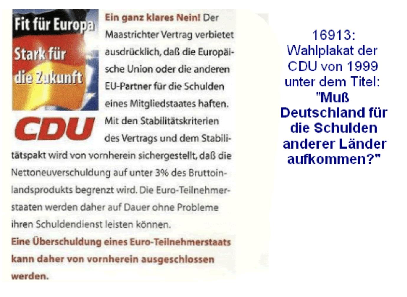 Demokratie Verständis? CDU Wahlplakat