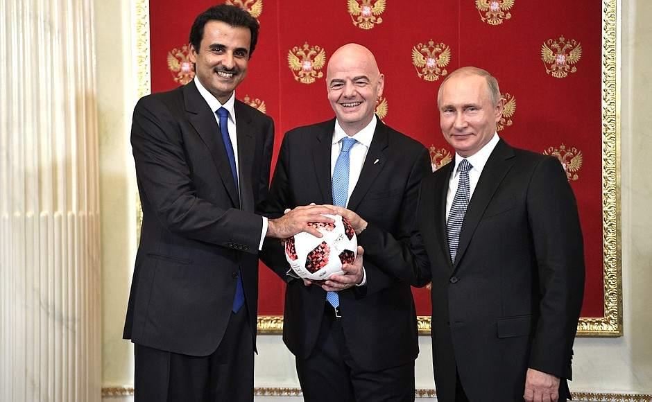 Tamim bin Hamad al-Thani und Wladimir Putin