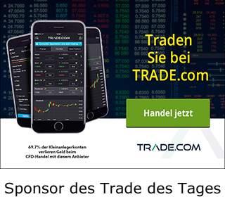 trade.com ist Sponsor des Trade des Tages