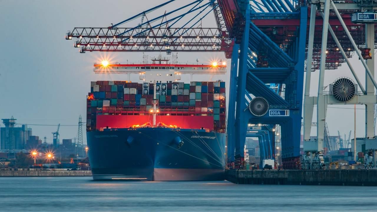 Hamburger Hafen - Exporte