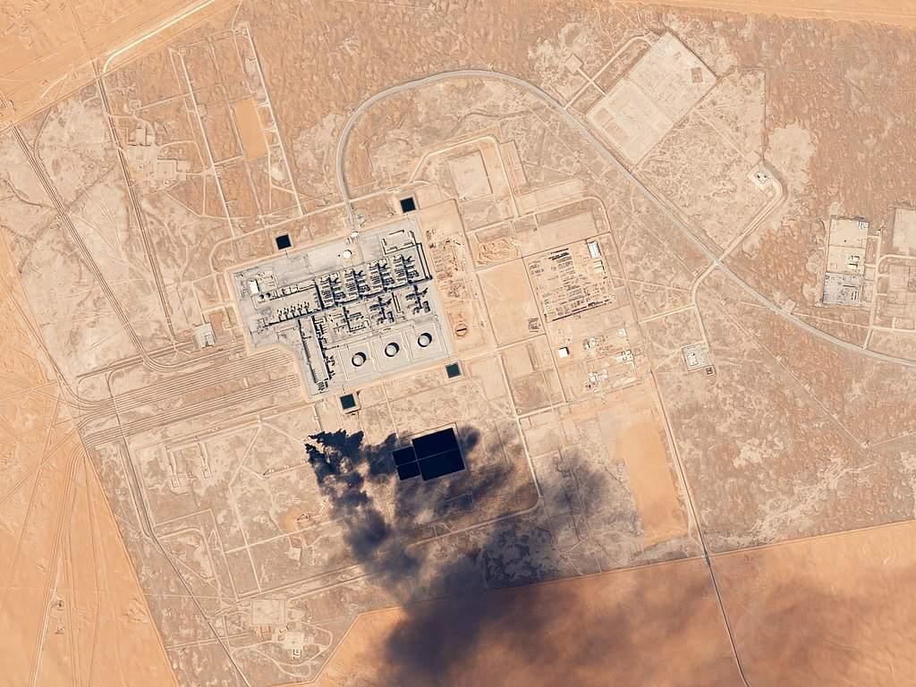 Saudi-Arabien Öl-Anlagen Luftaufnahme