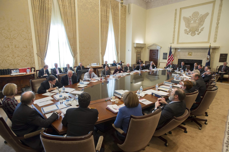 Beispielfoto eines FOMC-Meetings der Fed