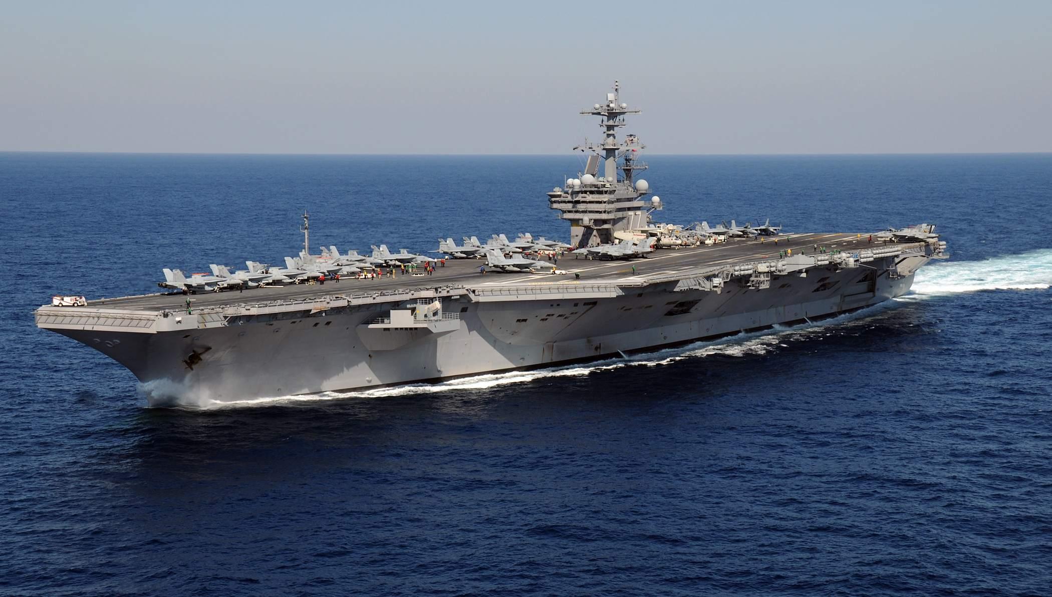 US-Flugzeugträger Beispielfoto - gibt es Krieg mit dem Iran?