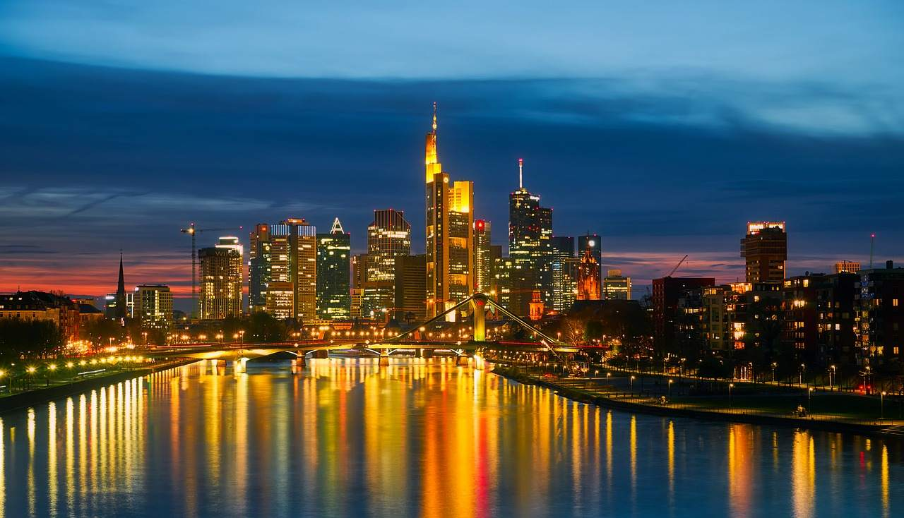 Deutsche Banken - Frankfurter Skyline