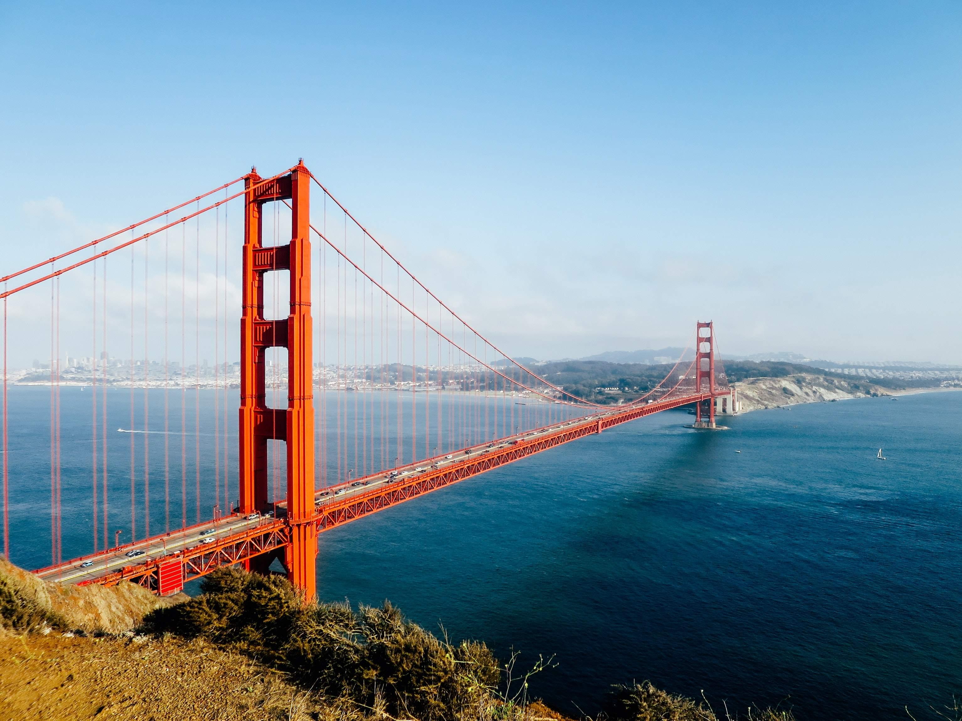 Die Golden Gate Bridge - mit eines der Symbole für die USA