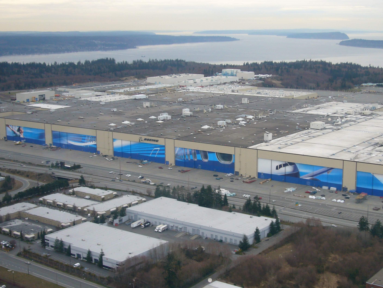 Boeing Werkhalle nahe Seattle