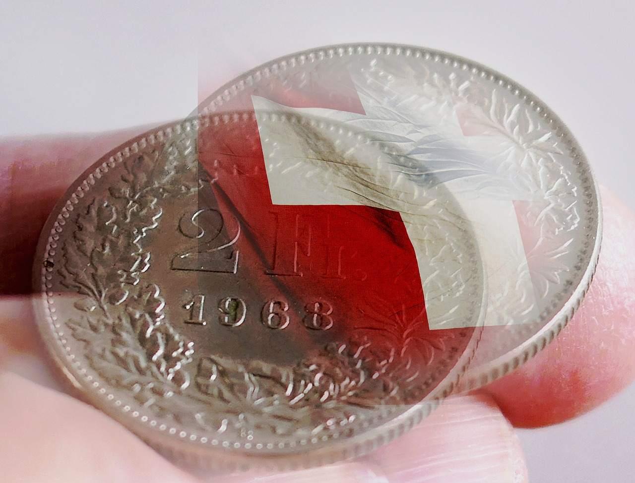 Schweizer Franken Münzen Beispielfoto