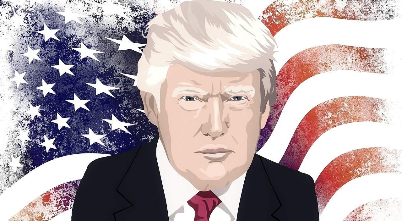 Karrikatur von Donald Trump
