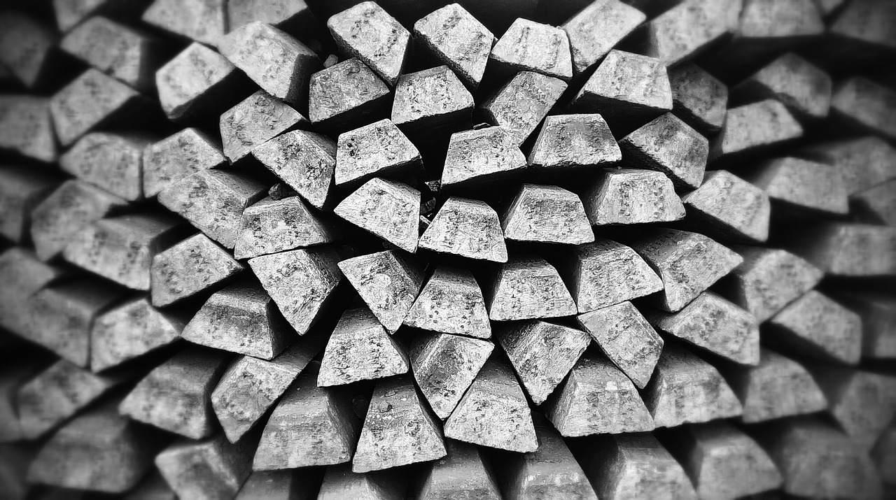 Silber Barren Stapel