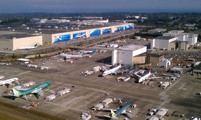 Das Hauptwerk von Boeing in der Nähe von Seattle