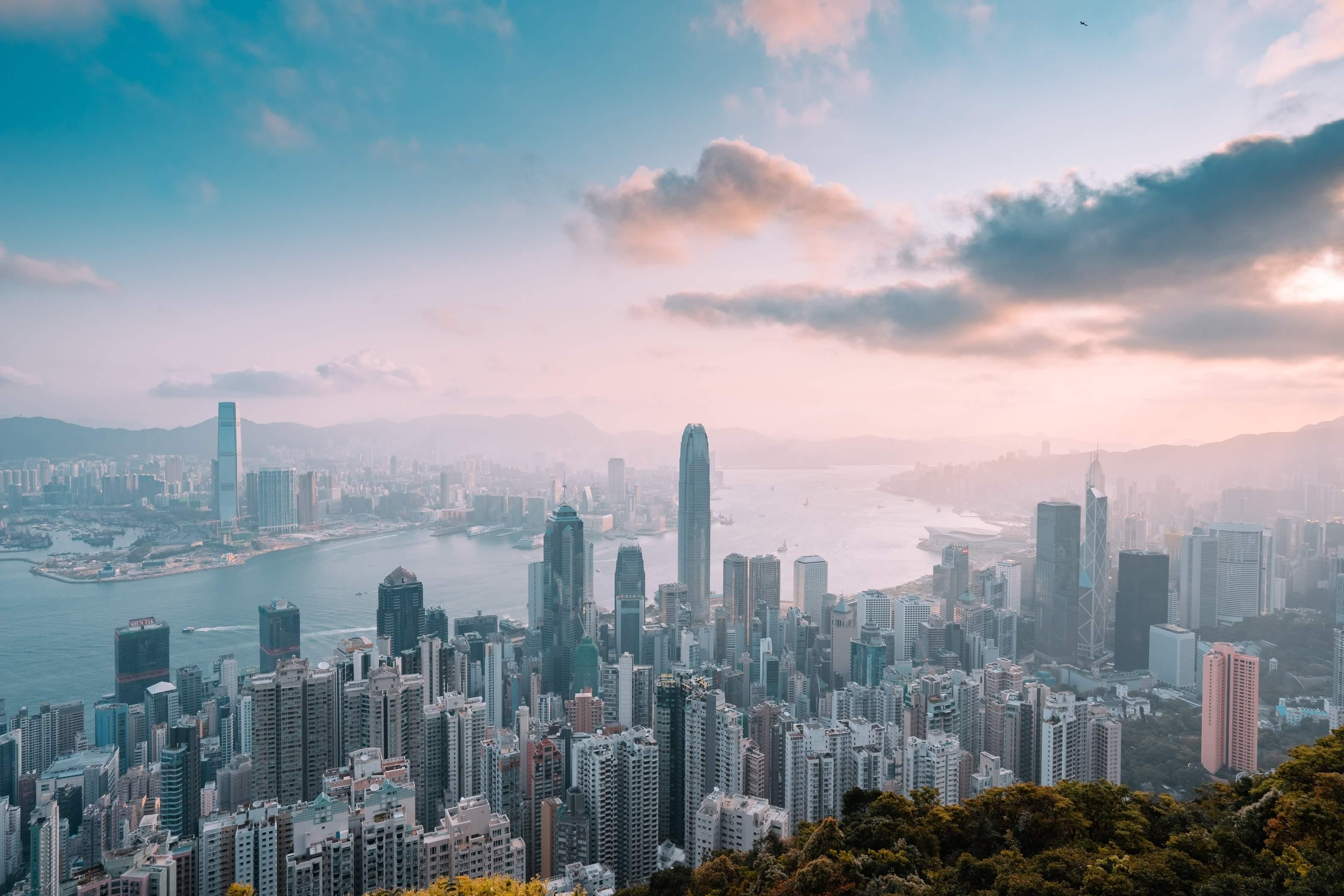 Die imposante Skyline von Hongkong