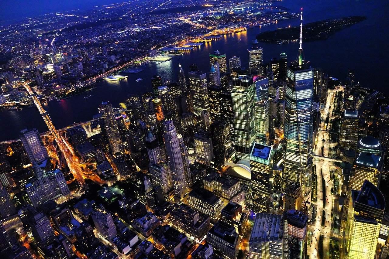 Downtown Manhattan - Aktienmärkte in den USA werden hier bewegt