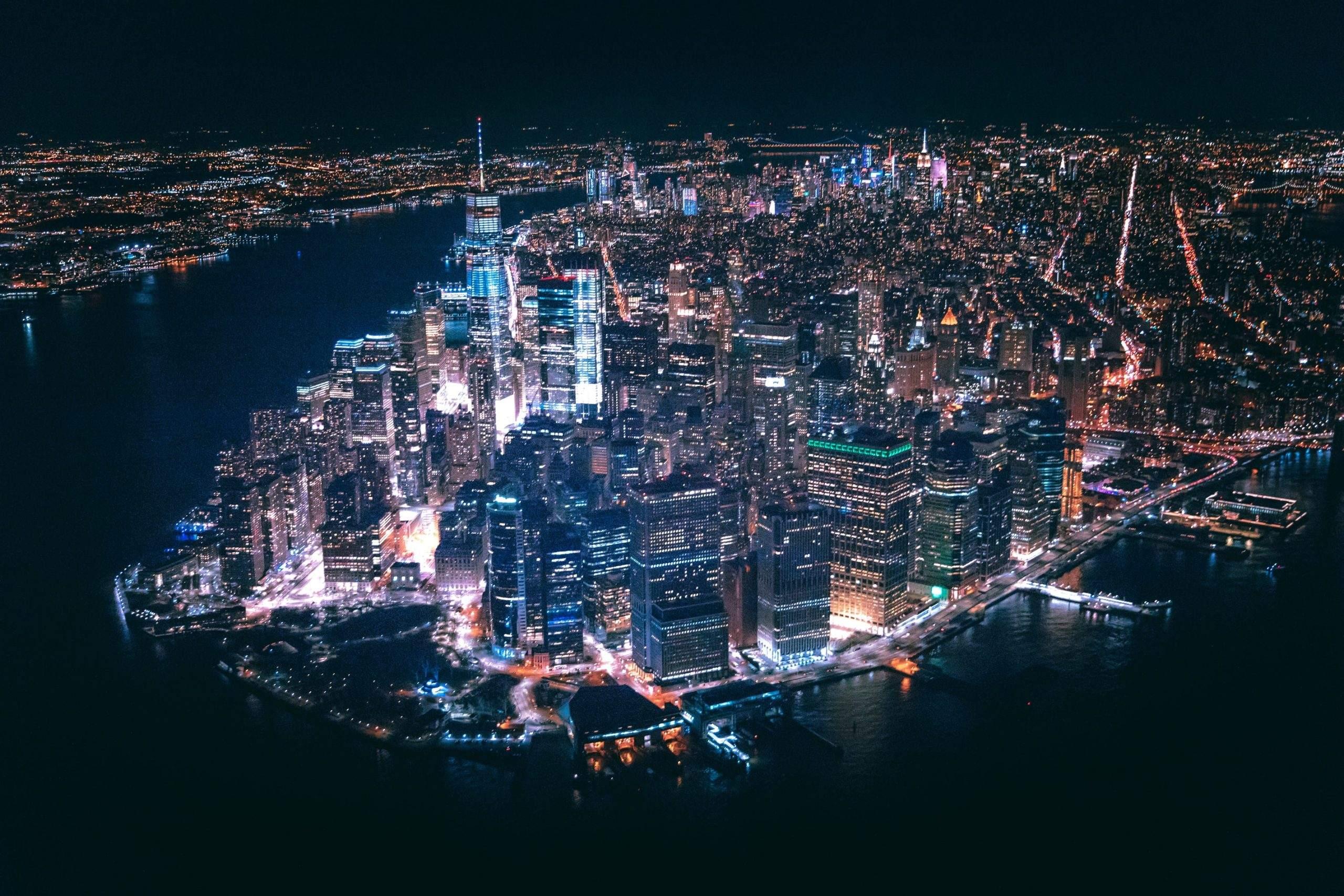 Downtown New York City - der globale Aktienmarkt achtet auf die Wall Street